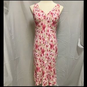 Pretty Floral Sleeveless Dress